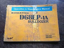 OEM KOMATSU D68E, P-1A Bulldozer Operation & Maintenance Manual Book AUC