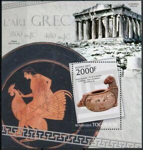 Togo Art Stamps 2013 MNH Ancient Greek Art Parthenon Artefacts Archaeology 1v SS