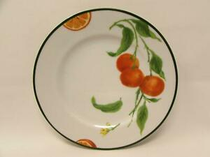 Citrus Grove by Williams-Sonoma Salad Plate Tangerines Green Band b7