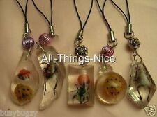 RESIN INSECT 30-40mm Random Pendant Bag Charm Swivel Dangle Fashion Jewellery