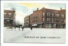 Post Card Postcard Claremont New Hampshire NH N H Union Block