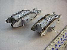 2 X construit Airfix WW1 Militaire Britannique Mâle citernes échelle 1:72