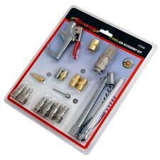 17 teiliges Druckluft Zubehör Werkzeug Set (Koppler Verbinder Inflator Gebläse und mehr)