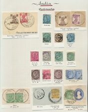 INDIA STAMPS 1880-1944 QV TO KGVI CANCEL STUDY INC BUSHIRE, BAGHDAD, ABU, NEPAL