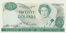 More details for p173b new zealand twenty dollars banknote first prefix in mint condition