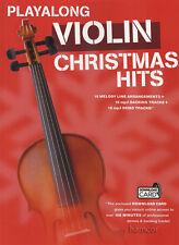 Playalong Violin Christmas Hits Sheet Music Book with MP3 Audio Download