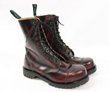 GETTA GRIP Dr Martens Red Black Leather 10 Eye Combat Steel Toe Boots Women US 7