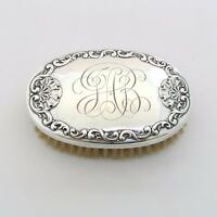 """Antique Whiting Sterling Silver Clothes Brush Vanity 5 1/2"""" Monogrammed"""
