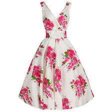 Floral Sleeveless Dresses Plus Size for Women