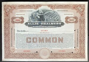 ALLIS-CHALMERS MANUFACTURING Stock SPECIMEN 1913. Milwaukee. Tractors Harvesters