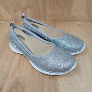 Skechers Womens Liana Slip On Sneaker Shoes Metallic 112010 Memory Foam 5 M New
