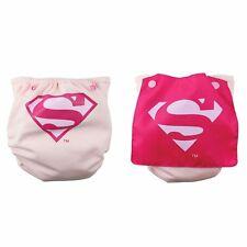 NEW Bumkins Cape Superwoman Superman Pink Cloth Diaper Superhero Supergirl
