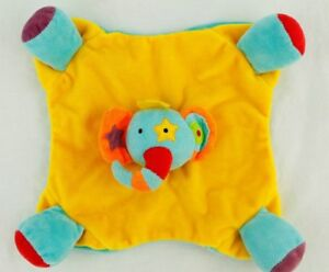 Yellow Blue Elephant Chime Lovey Star Eye