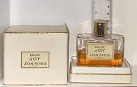 Eau de Joy Parfum Jean Patou Vintage Scent 1 Oz Splash in Box PREOWNED* Mark 694