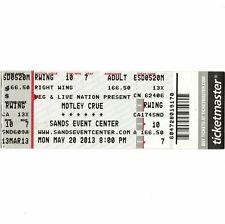 MOTLEY CRUE Concert Ticket Stub BETHLEHEM PA 5/20/13 SANDS EVENTS CENTER Rare