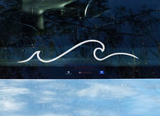 2 x Ocean Wave Surf Vinyl Decal Car Window Caravan Mobile Laptop Surfing Sticker