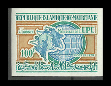 Mauritania World Day of Universal Postal Union Earth Imperforated Proof ** 1973