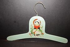 Vintage Childrens' Wood Clothes Display Hanger Blue 'Mary had a little Lamb'