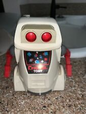 Vintage 1980's Tomy Crackbot Robot - Complete - Space - Rare - Tested & Works!