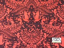 FT51 TULA PINK Royal Elizabeth Floral Goth Steampunk Cotton Quilting Fabric