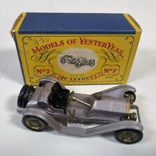 Matchbox Yesteryear Y 7 -2  Mercer Raceabout Type 35J 1913 Mauve BOXED #1