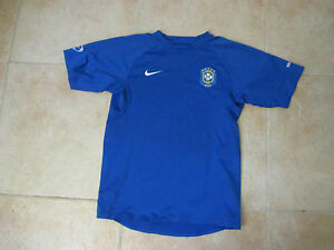 VINTAGE NIKE BRAZIL NATIONAL SOCCER/FOOTBALL TEAM PRACTICE SMALL SEWN JERSEY