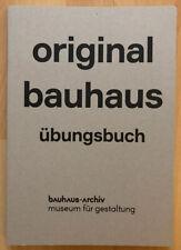 original bauhaus übungsbuch -bauhaus archiv- F. Holländer N. Wiedemeyer Prestel