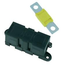 Panel Mount Inline Mega Fuse Holder + 100A Fuse Car Van Marine Truck 12V 24V