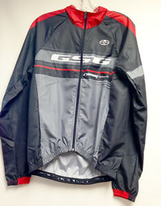 Team CYCLING Packable Wind Jacket (Red/Black) Made in Italy by GSG