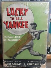 Autographed Signature Joe DiMaggio Lucky To Be A Yankee Book JSA Letter