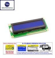 DISPLAY LCD 16x2 1602 BLU HD44780 MODULO PER ARDUINO RETROILLUMINATO A LED 16PIN