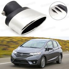Silver Car Exhaust Muffler Tip Tail Pipe Trim for Honda JAZZ 2015-2017 #1017