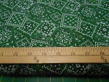 1 yard Kelley Green  Bandana Fabric