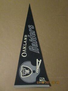 NFL Oakland Raiders Vintage Circa 1970's 2 Bar Helmet Logo Football Pennant