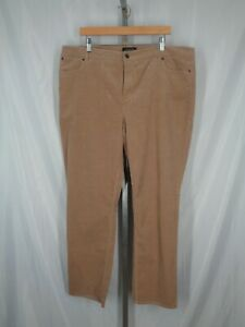 Talbots Corduroy Straight Pants Size 20 Flawless Five Pocket New
