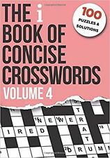 The i Book of Concise Crosswords Volume 4 New Book