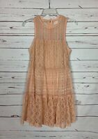 Altar'd State Women's S Small Peach Lace Sleeveless Spring Summer Easter Dress