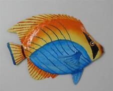 "OUTDOOR HAITIAN 9"" METAL BANDIT FISH TROPICAL  HANGING WALL ART DECOR"
