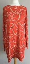 Bnwt Women Boohoo Christmas Red Candy Cane Festive Dress Size 22
