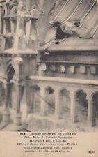 CPA GUERRE 14-18 WW1 bombe lancée par taube sur notre-dame en octobre 1914