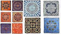 Mandala Ottoman Pouf Oversized Floor Pillows Indian Seating Cushion Cover Throw