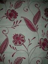 Large remnant of Laura Ashley Carolina in Cranberry 4 metres VERY RARE