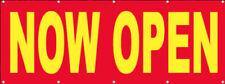 Now Open Banner Sign Vinyl Alternative Store Grand Opening