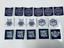 Authentic Yeti Stickers/Decals - Lot Of 16-Free Ship