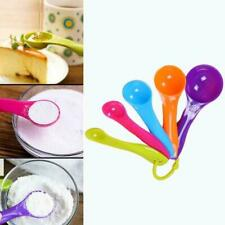 5 Pcs Colorful Plastic Measuring Spoons Set Kitchen Utensil Cooking Baking E6O6