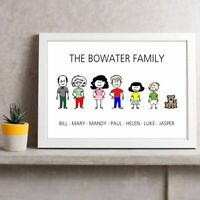 FAMILY NAME | Personalised Picture | Stick People Figures | FREE POST | (NP270)