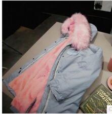 Winter Ladies Thicken Clothes Faux Fur Hood Jacket Cotton Fleece Coat Parka Warm