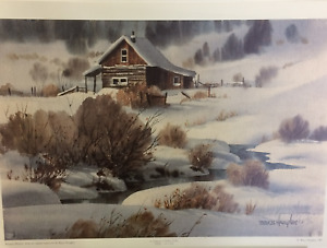 LE Watercolor Print by Bruce Haughey - 'Winter's Blanket' A/P 18/20 - Free Ship