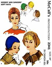 McCall's #2341 Turban Hats Caps Fabric Sewing Pattern Chemo Alopecia
