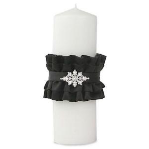 Ivy Lane Design Isabella Unity Pillar Candle in Black